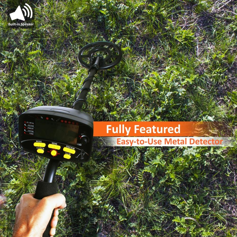 Amazon.com : Pyle PHMD72 - Treasure Hunter High Power Digital Metal Detector with Waterproof Search Coil, Adjustable Sensitivity, Discrimination and ...