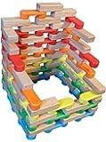 Magz combo Bricks 80 consisting of 40 standard Bricks and 40 wooden Bricks