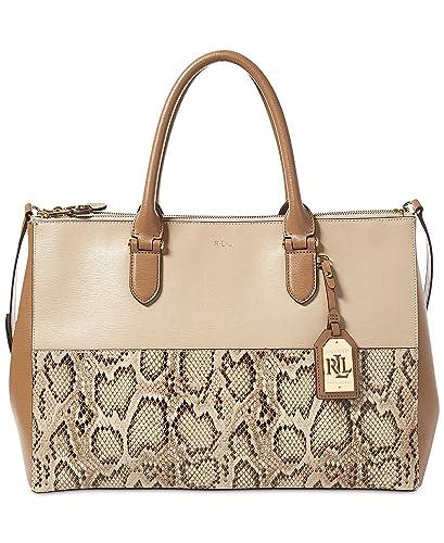 4c9fb6ac23ca Image Unavailable. Image not available for. Color  LAUREN Ralph Lauren  Women s Newbury Double Zip Satchel Top Handle Handbag ...