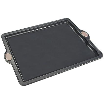 LEVIVO Molde de Horno de Silicona para Tartas Planas, Bases de Pizza y Pasteles,