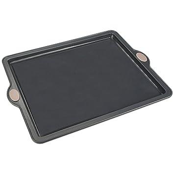 LEVIVO Molde de Horno de Silicona para Tartas Planas, Bases de Pizza y Pasteles, Gris, 25.5 cm: Amazon.es: Hogar