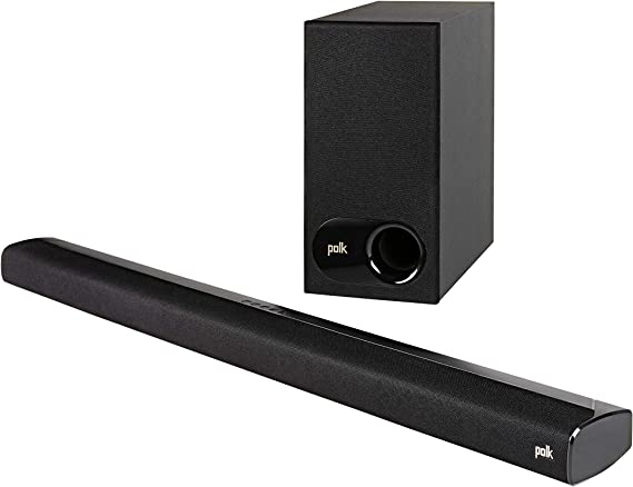 Polk Audio Signa S2 Ultra-Slim TV Sound Bar | Works with 4K & HD TVs | Wireless Subwoofer | Includes HDMI & Optical Cables | Bluetooth Enabled