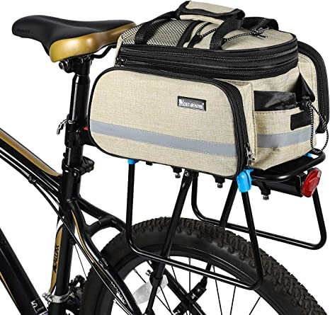 DJ Bikes Trunk Bag Clip-On Quick-Release Bicycle Commuter Bag