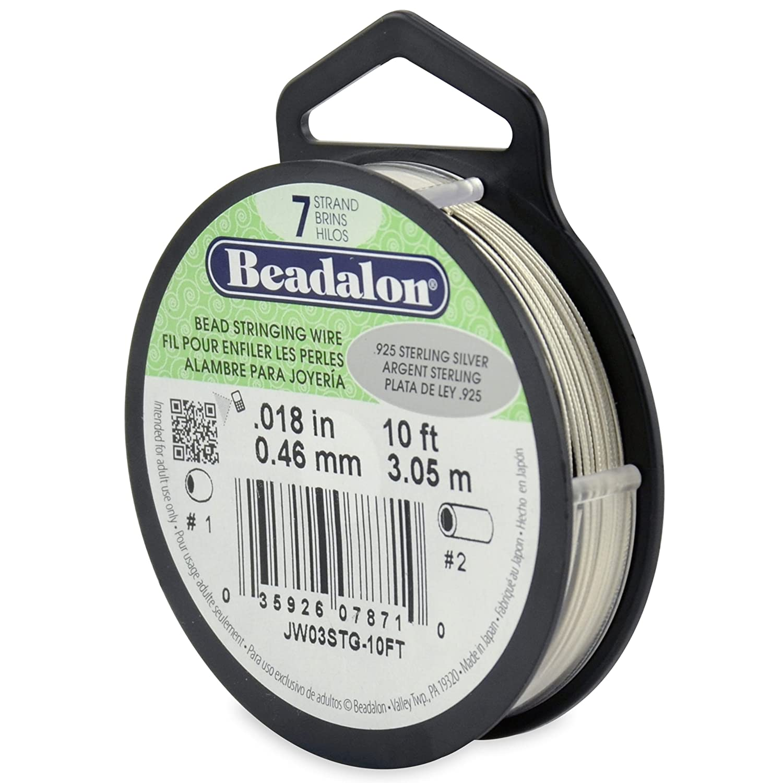 Bright 46-Millimeter Diameter 30-Feet-Pack Beadalon Stringing Wire 7-Strand .018-Inch