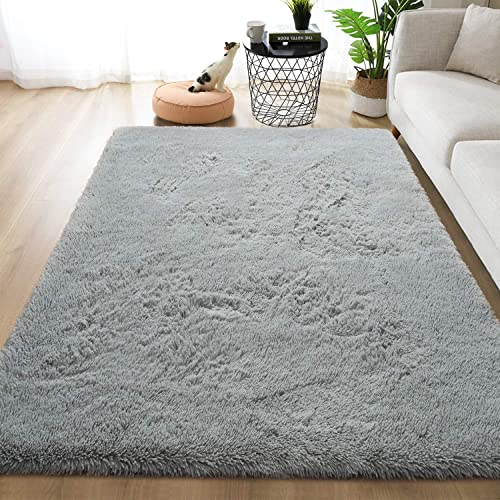 Goideal Fluffy Soft Bedroom Area Rugs 5ft x 8ft Shaggy Floor Indoor Rug
