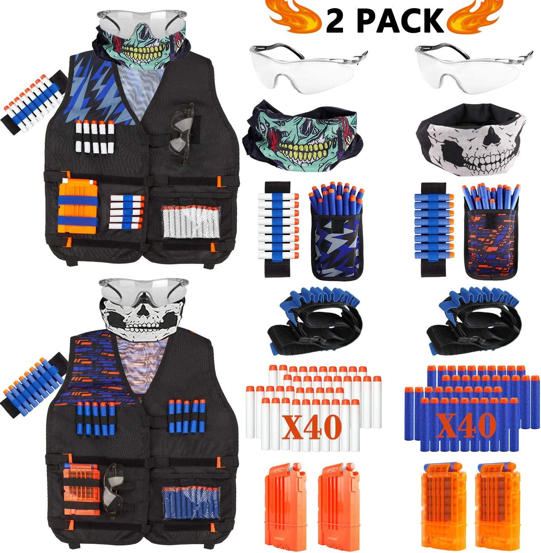 Taiker compatible con Nerf Chaleco Kit, 2 Pack Chaleco táctico para Pistola Nerf, N-Strike Elite Chaqueta para Niños, Niñas: Amazon.es: Juguetes y juegos