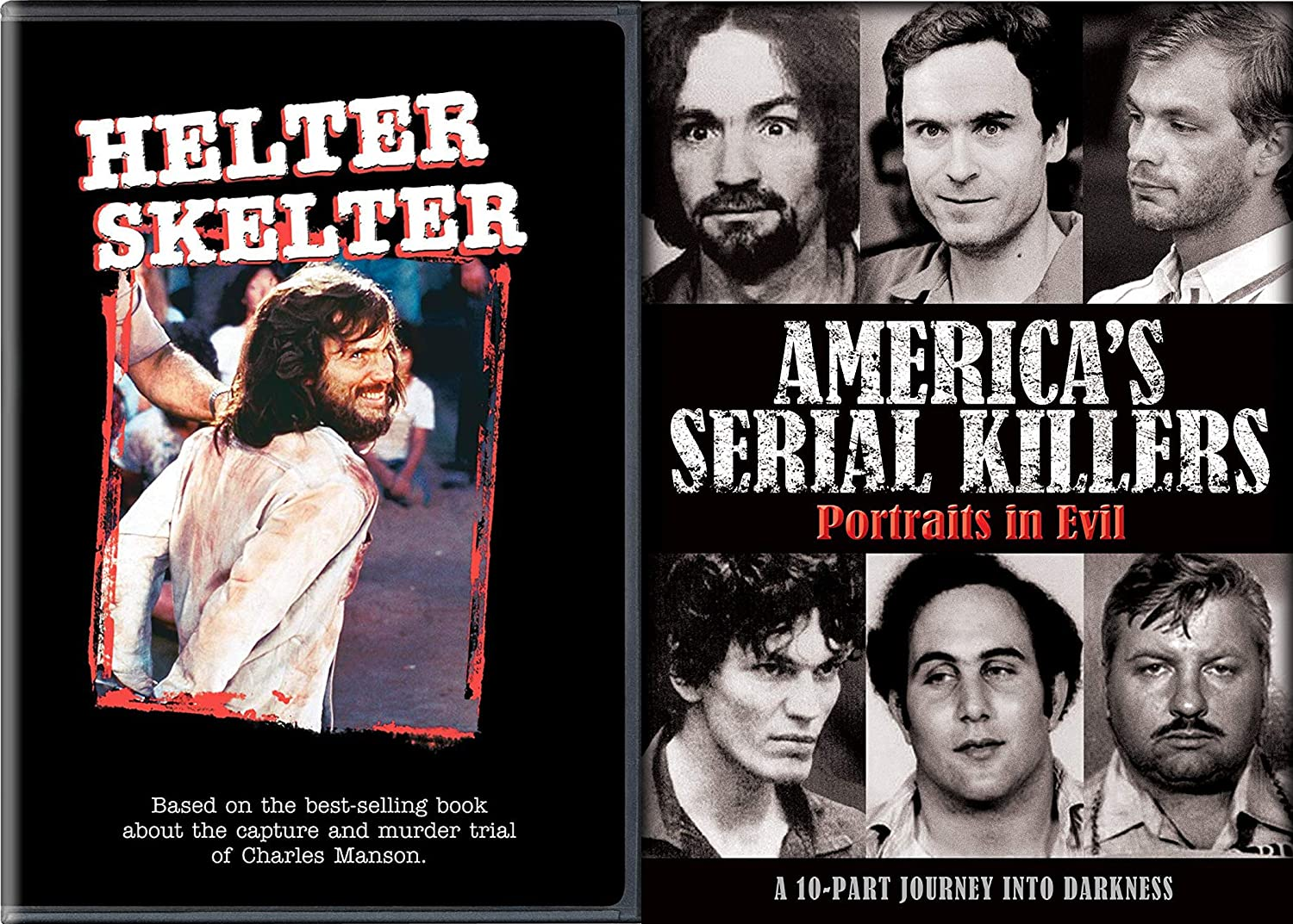 Amazon Com Mass Murderers And Serial Killers Dvd Bundle America S Serial Killers Portraits Of Evil Helter Skelter Tv Movie 1978 Horror Collection Movies Tv