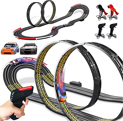 Amazon.com: Cusocue High-Speed Electric Powered Super Loop Speedway Slot  Car Track Set with Two Cars for Dual Racing, Boys Toys for 6 7 8 9 10-16  Years Old Kids Best Gifts: Toys & Games | Advanced Wiring Slot Car Track |  | Amazon