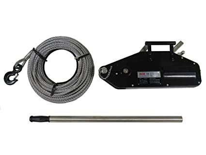 1600KG 1.6 Ton ACE Wire Hoist Winch & 20M Rope on