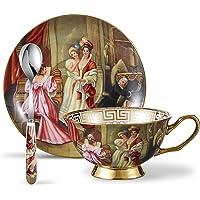 Panbado® Juego de Tazas de café de Porcelana
