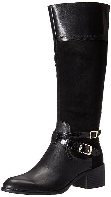 Franco Sarto Women's Lapis Western Boot, Black, ...