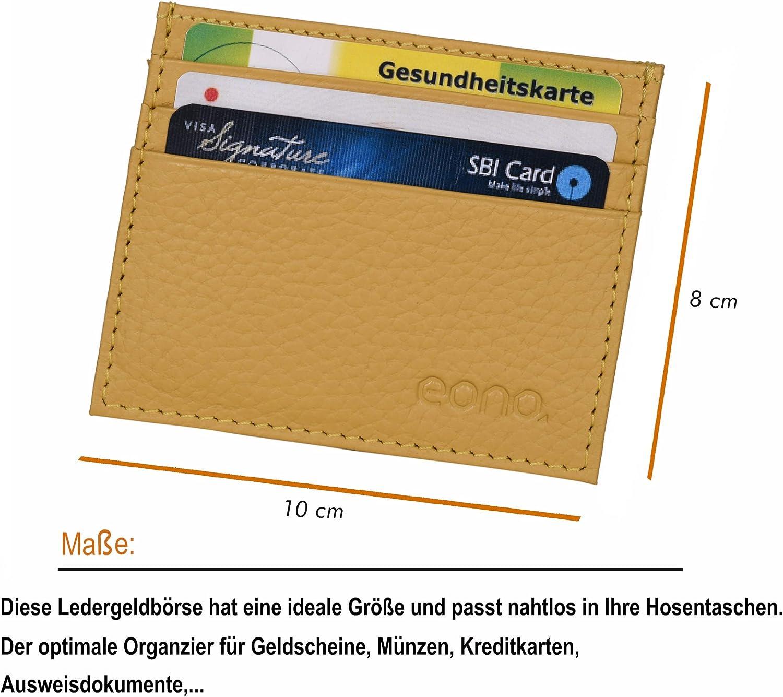 Design avec Fonction de Protection de Lecture RFID Cuir Turquoise Eono by  /Étui pour Cartes de cr/édit avec Compartiment /à Billets en Cuir pour Femme et Homme