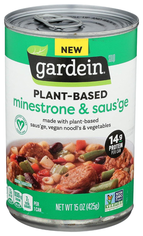 Gardein Plant-Based Saus'ge & Minestrone Soup, Vegan, 15 oz.