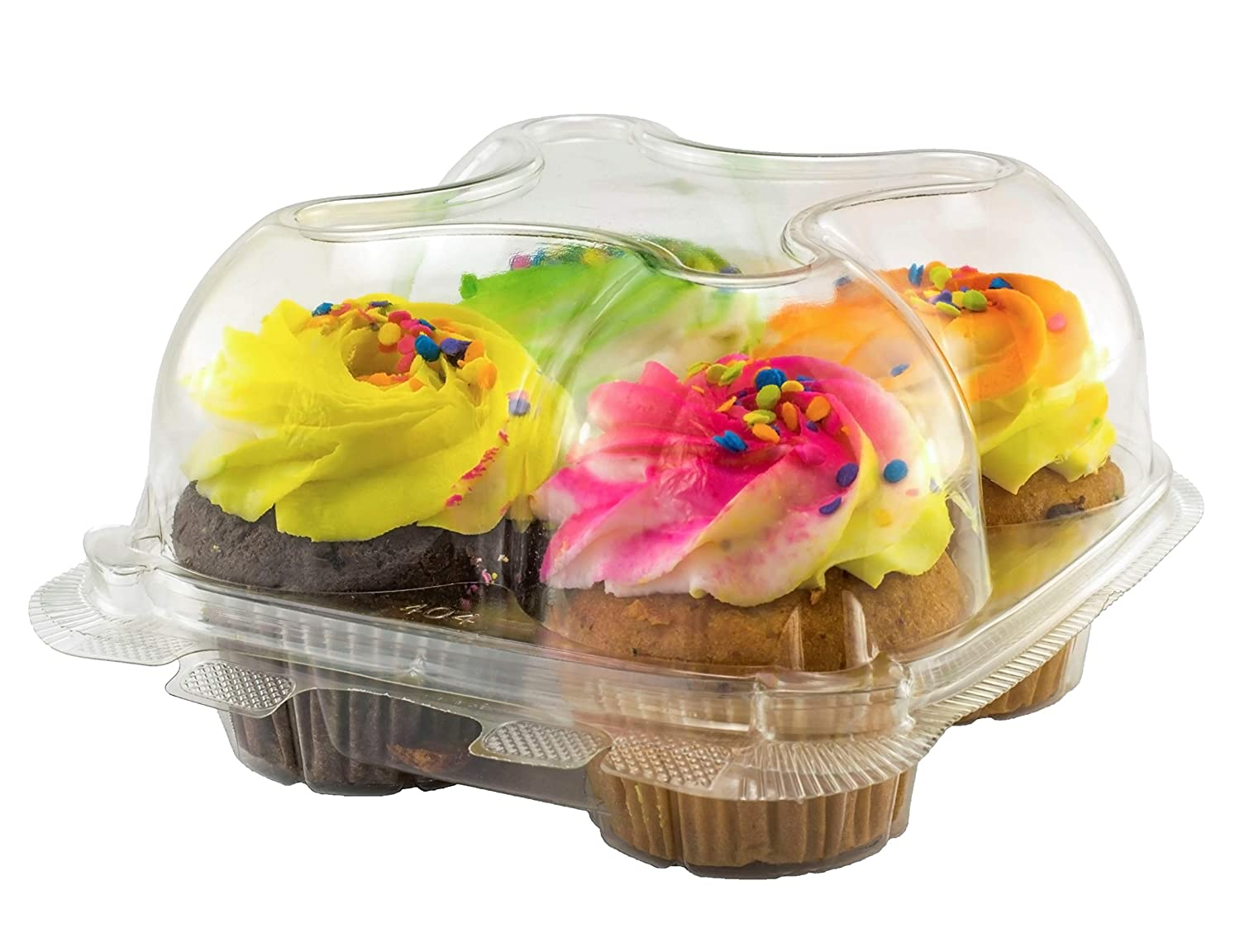 Katgely Cupcake Boxes Cupcake Containers 4 Pack Cupcake, Set of 10 Katgely Inc KAT972724
