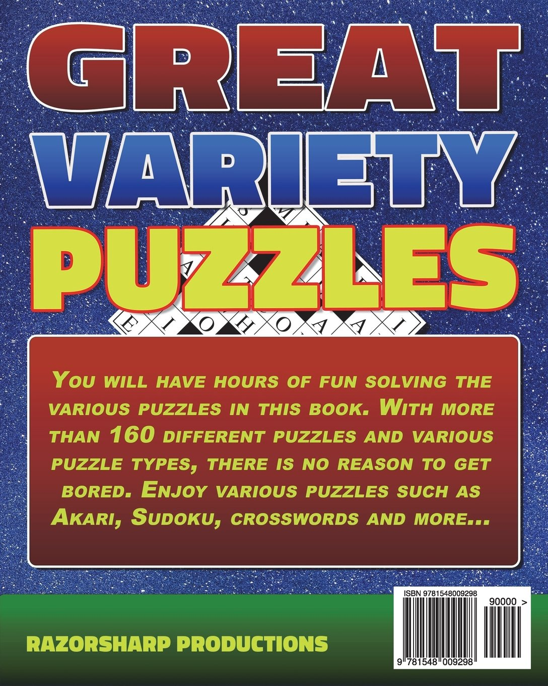 Amazon.com: Great Variety Puzzles - Puzzles and Games Puzzle Book: Use this  fantastic variety puzzle book for adults as well as sharp minds to challenge  ...