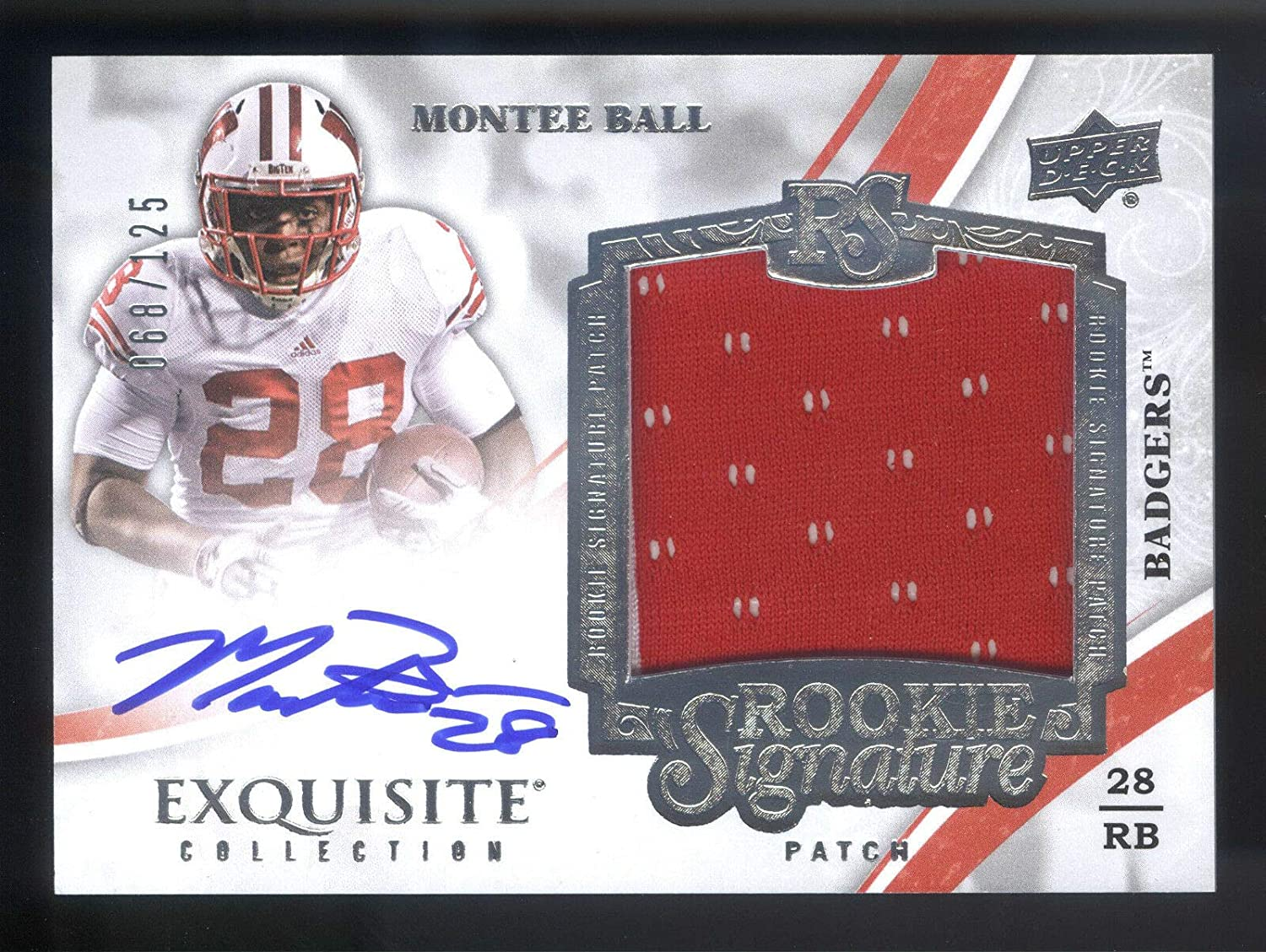 Amazon.com: 2013 Exquisite #126 Montee Ball Jersey On Card ...