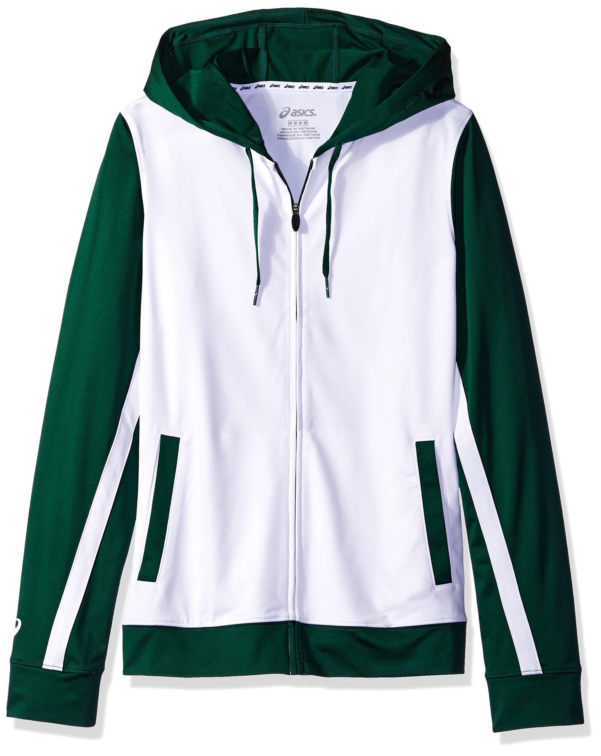 ASICS Jr. LANI Jacket, White/Forest, Medium by ASICS
