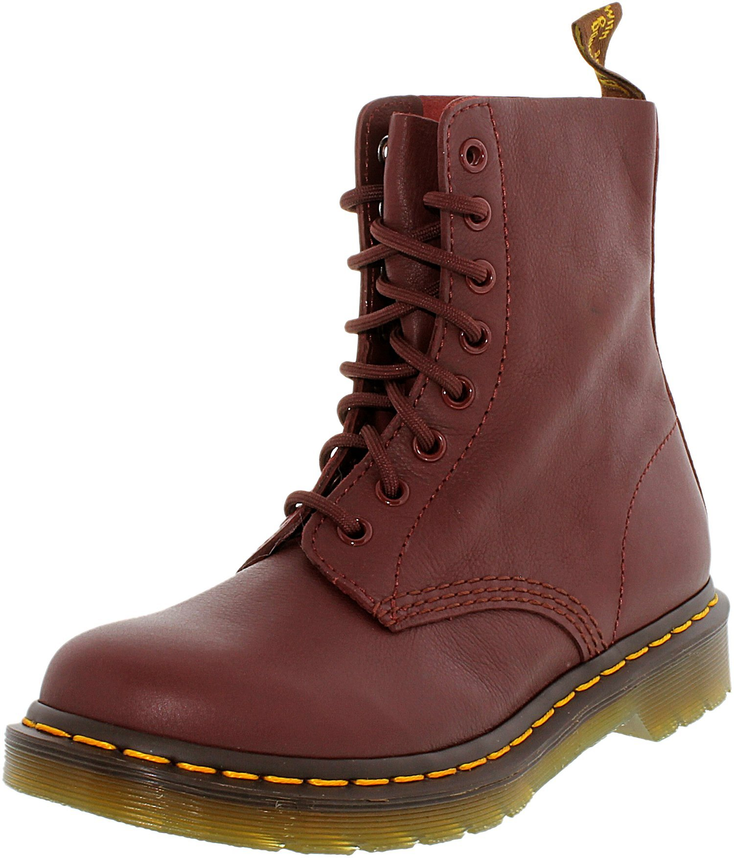 Dr. Martens Women's Pascal Combat Boot, Cherry Red, 7 UK/9 M US