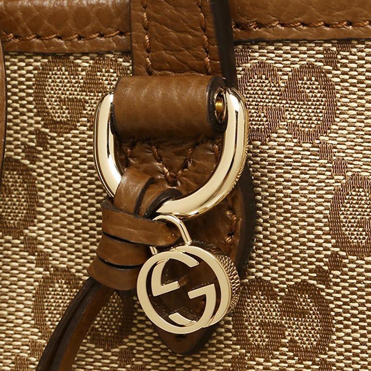 2b3d7267eca243 Gucci Bree Small GG Canvas Tote Bag Nocciola Brown New Bag: Amazon.ca:  Shoes & Handbags