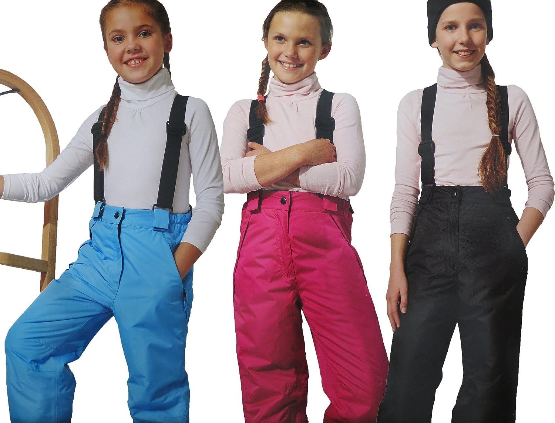 Kinder Mädchen SKIHOSE Schneehose Wintersport Skianzug Winter Hose Anzug