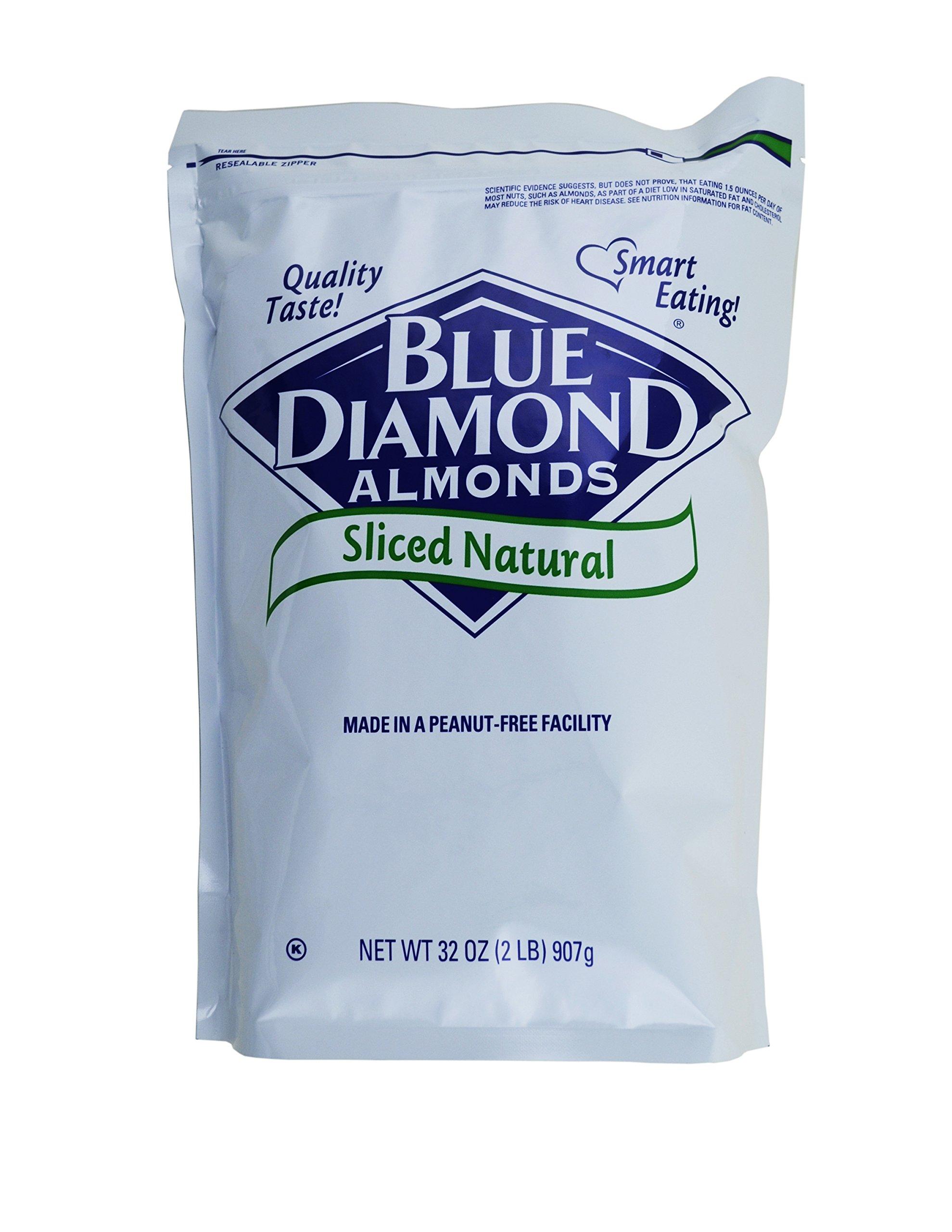 Blue Diamond, Natural Sliced Almonds 2 lb. (4 Count)