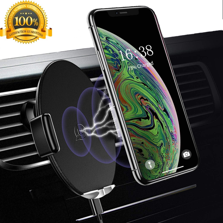 Usams Induktion Handyhalterung Fürs Auto Automatisch Qi Kfz Handy Halterung Induktiv Wireless Charger Handyhalter Lüftung Für Xs Max Xr X 8 Plus Samsung Galaxy S9 S8 S7 S6 Edge Note 8 5 Schwarz Elektronik