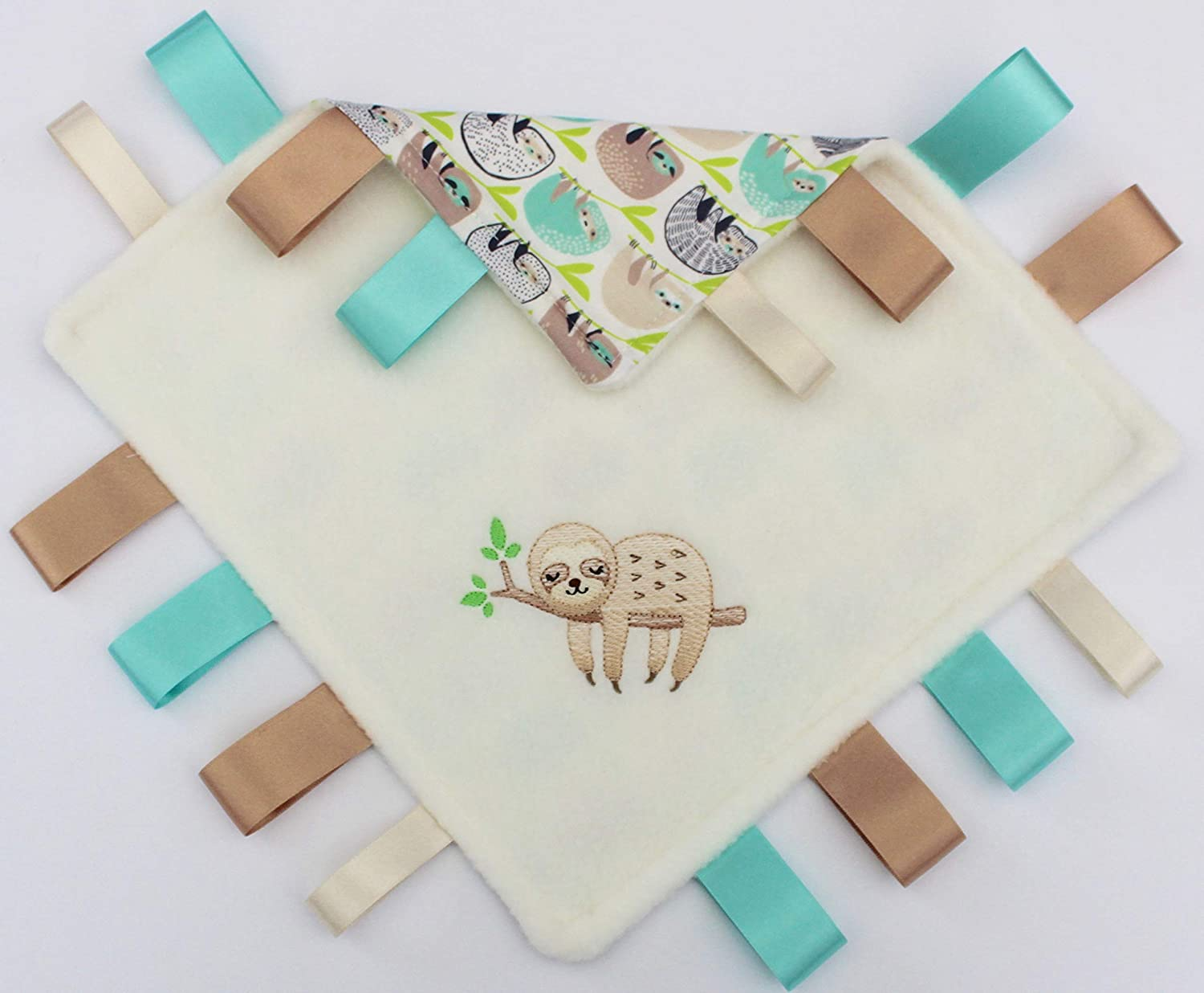 40CM PERSONALISED DIMPLE BABY TAGGY BLANKET COMFORT COMFORTER GIFT