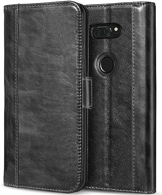 newest 47fda 54d09 ProCase LG V30 Genuine Leather Case, Vintage Wallet Folding Flip Case with  Kickstand Card Holder Protective Cover for LG V30, LG V30 Plus, LG V30S ...