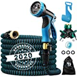 Delxo 2020 Upgrade 50FT Expandable Garden Hose Water Hose with 9-Function High-Pressure Spray Nozzle, Heavy Duty…