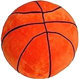T Play Plush Basketball Pillow Fluffy Stuffed Basketball Plush Toy Soft Stuffed Basketball Plush Pillows Durable Sport…