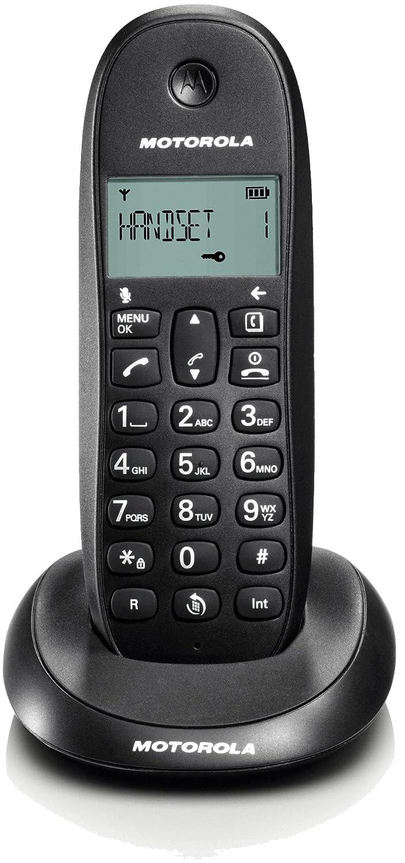 TELEFONO CORDLESS MOTOROLA C1001L Black DECT display alfanum. monocromatico, ID chiamate, 5 suonerie, rubrica 50 nominativi
