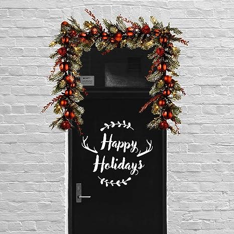 Happy Holidays Decal Christmas Door Decor Holiday Door Vinyl Happy Holidays Door Decal Christmas Vinyl Decall Christmas Porch Decor