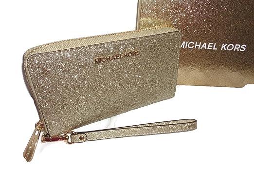 Michael Kors 35H7XGFW10 PALE GOLD Portefeuilles Femme Or TGUNI ... bc9665c617b