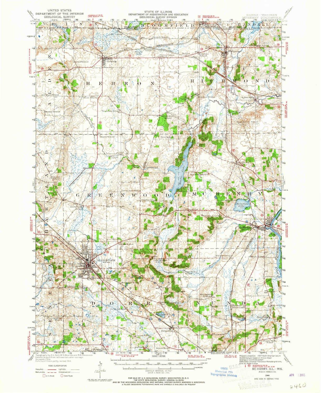 Amazon Com Yellowmaps Mchenry Il Topo Map 1 62500 Scale 15 X 15