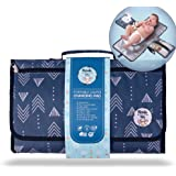 Portable Diaper Changing Pad by Meraki Baby   Waterproof Station Mat Ideal Travel Kit   Easy to Clean   Large Storage…