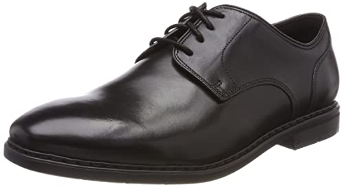 Banbury Limit, Zapatos de Cordones Brogue para Hombre, Negro (Black Leather-), 44.5 EU Clarks