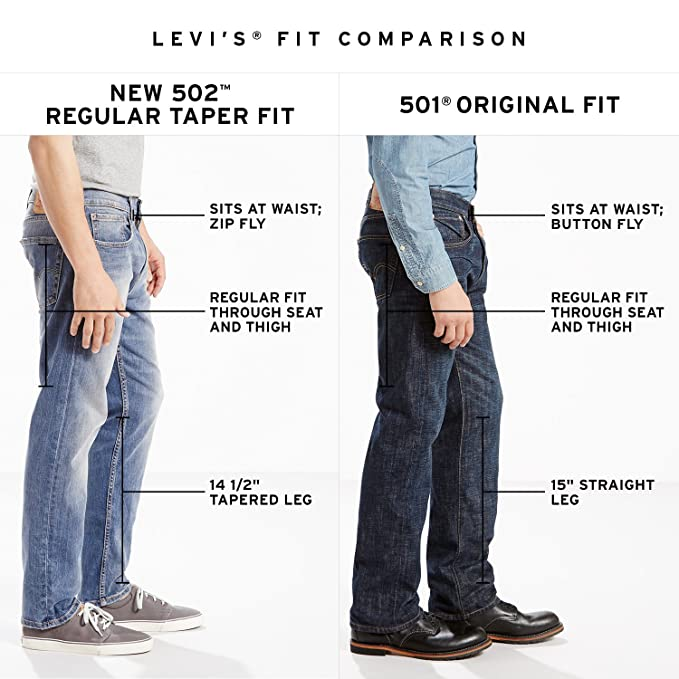 d43200d2fd1 Levi's Mens 502 Regular Taper Fit Chino: Amazon.ca: Clothing & Accessories