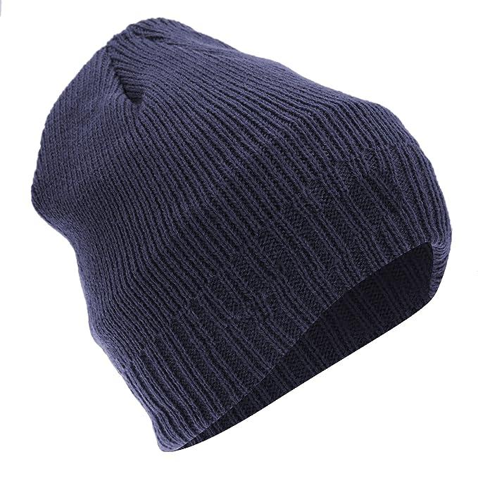 Floso - Berretto in Maglia Effetto Termico Thinsulate - Uomo (Taglia unica  per tutti) (Blu navy)  Amazon.it  Abbigliamento cf81d1a8ce07