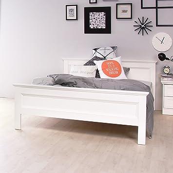 Stockholm Landhaus Bett 140x200 In Weiss Amazon De Kuche Haushalt