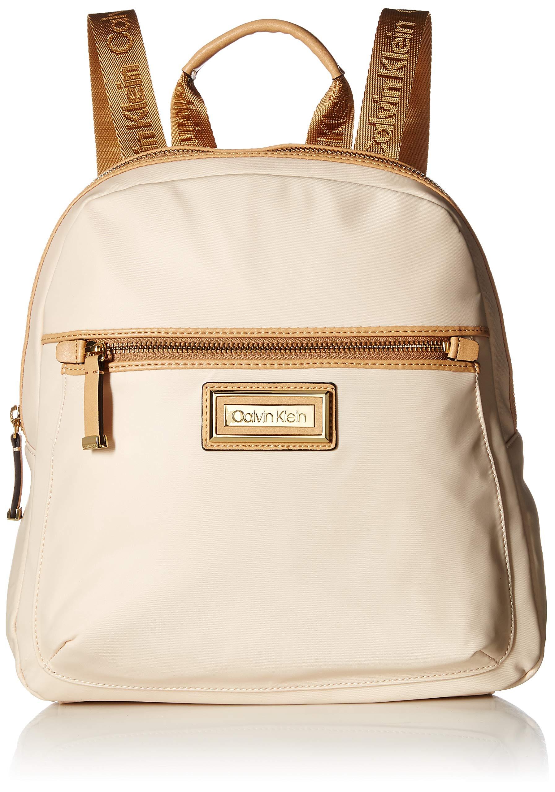 Calvin Klein Belfast Nylon Key Item Backpack, Sand
