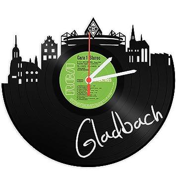GRAVURZEILE Skyline Gladbach Wanduhr Aus Vinyl Schallplattenuhr Upcycling  Design Uhr Wand Deko Vintage