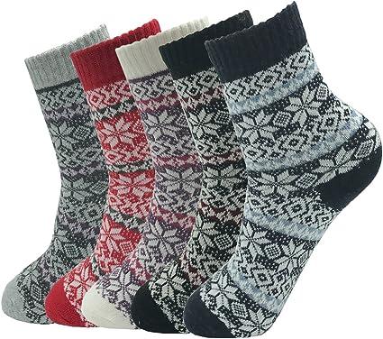 Urban Virgin Women Winter Warm Boot Bombas Socks Ladie Merino Wool Socks