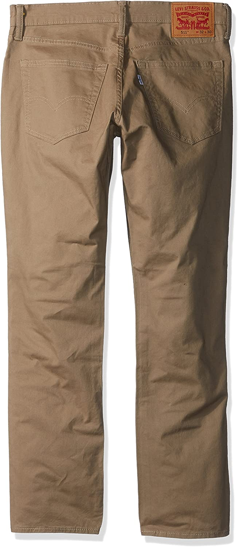 Levi's Men's 511 Slim Fit Jeans Earth Khaki - Twill - Stretch
