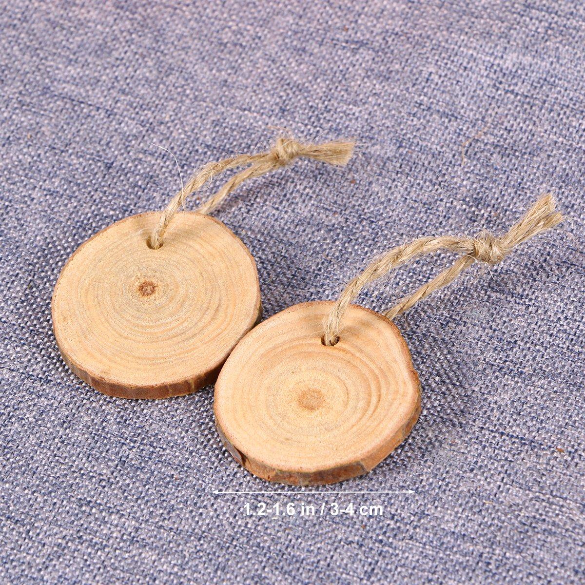 50-Paket /4/cm mit Jute-Schnur ultnice St/ücke von Stamm Holz St/ücke von Stamm Holz unvollendet stabilisiermittel pre-tallados Basteln 3/