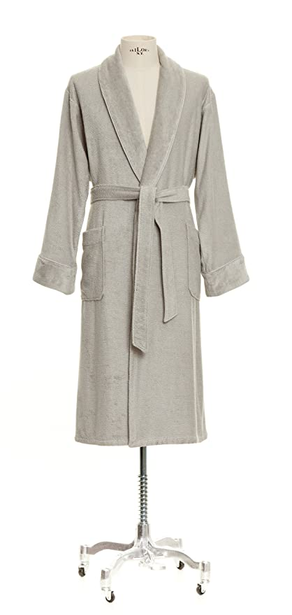 2786a03722 Möve Bamboo Luxe 275240827823 S Light Grey Bath Robe with Shawl Collar Small