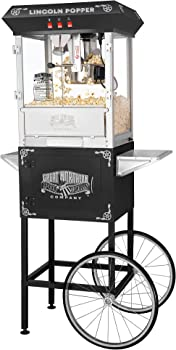 Great Northern Black Antique Style Lincoln Popcorn Popper Machine