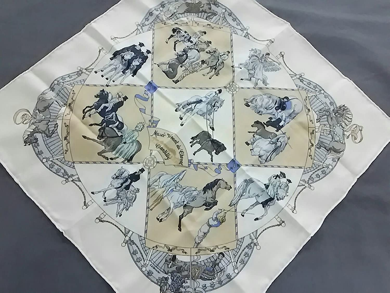 (エルメス) HERMES スカーフ アイボリー×ベージュ×マルチ プチカレ 【中古】 B07FSHWFT1  -