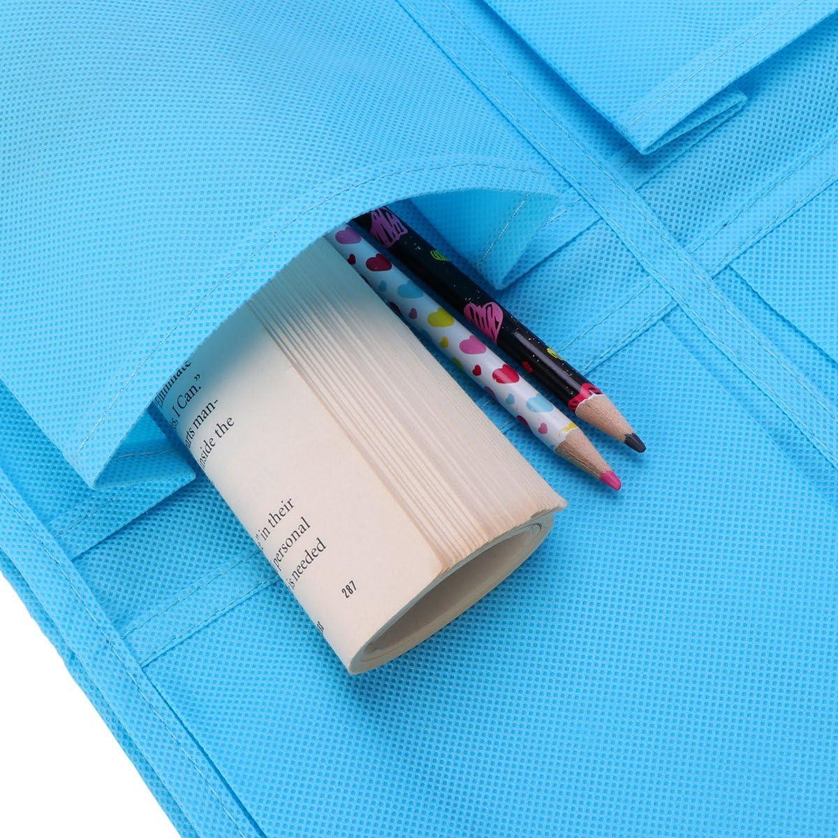 Bleu Yardwe 2 pcs 12 Poches Non-tiss/é sur Porte Suspendu Sac Multi-Couche Chaussure Rack Cintre Organisateur de Stockage