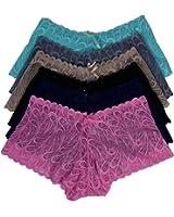 Viola's Secret Lace Boyshort Underwear Pack of 12 Women Panty