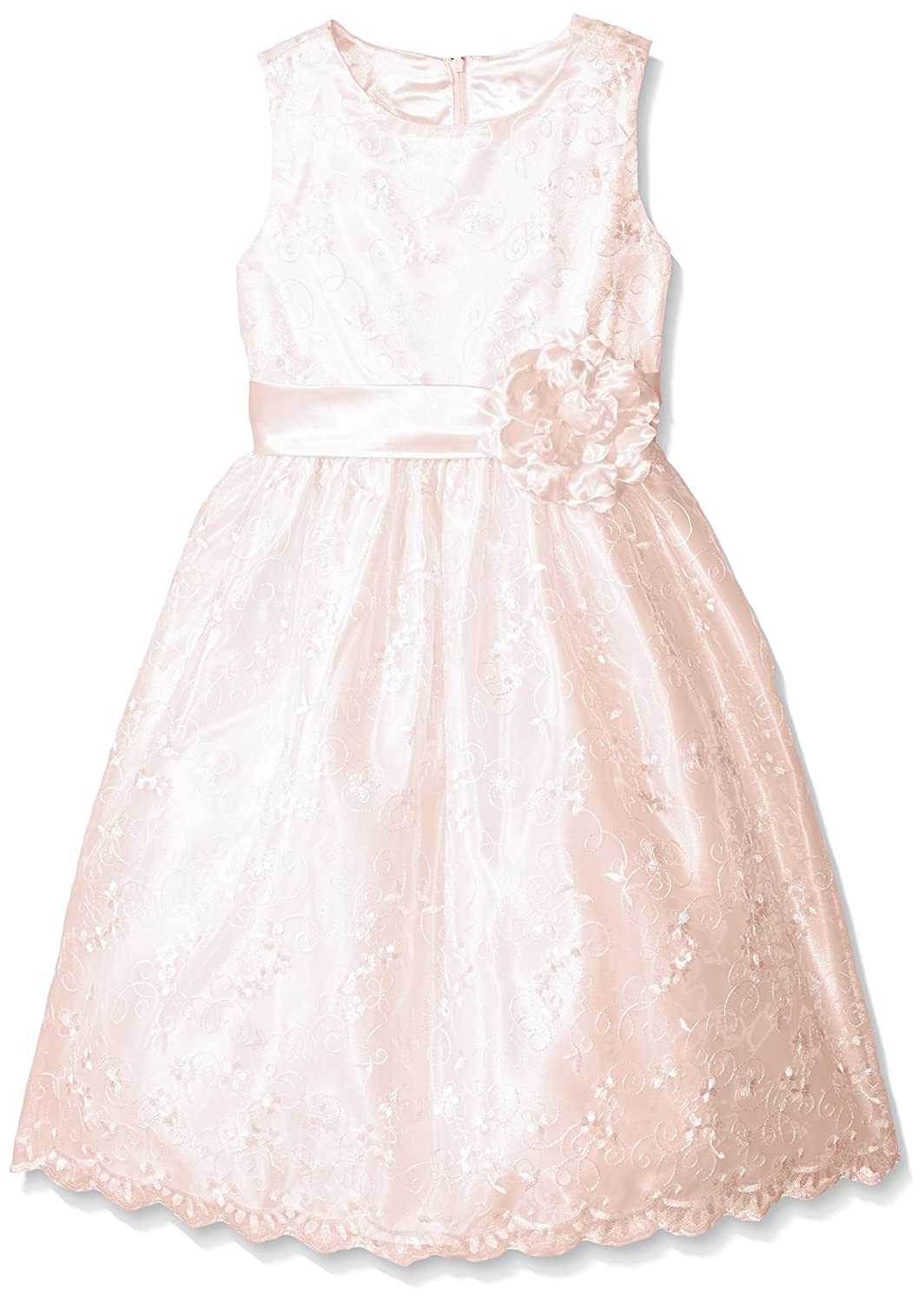 Amazon.com: American Princess Girls' All Over Embroidered Dress ...